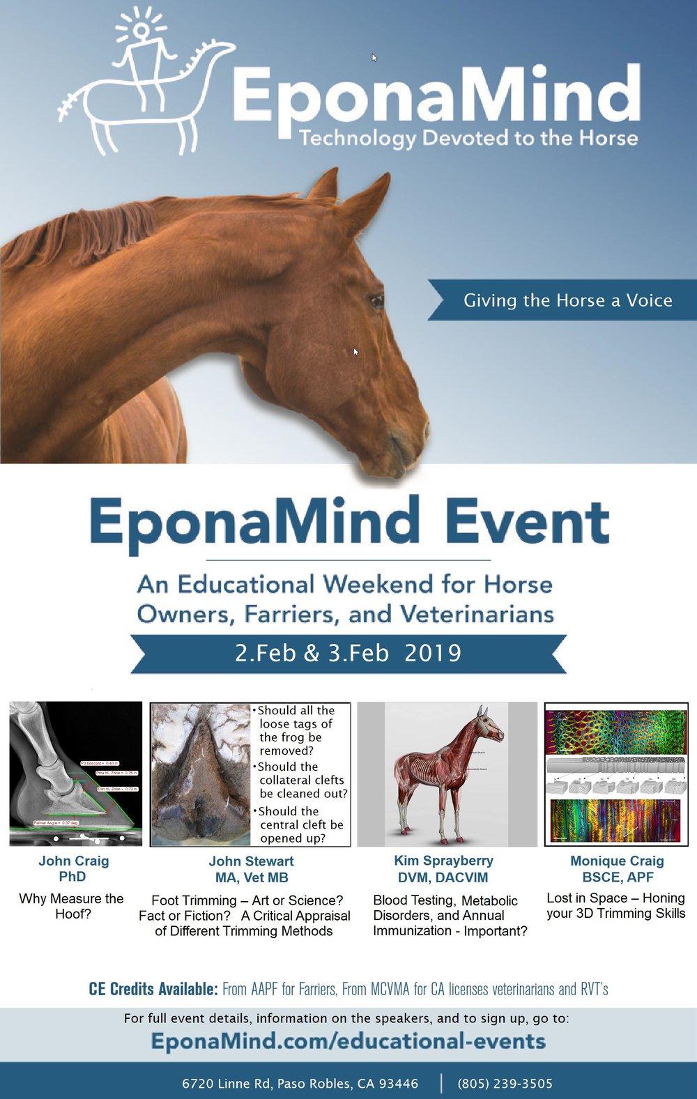 EponaMind Equine Educational Event Flyer