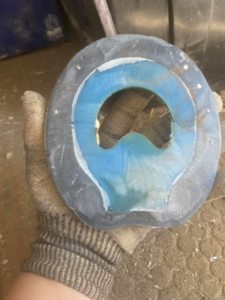 Farriers and Trimmers Nailing Eponashoe Horseshoes